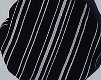 Black and White Stripe Fabric Doorknob Cover