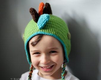 Dinosaur Hat - Baby Dinosaur hat - crochet dinosaur hat - Baby Boy Hat - Newborn boy hat - Toddler boy hat - winter hat
