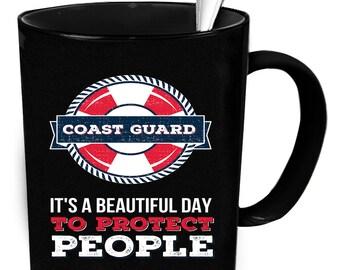 Coast Guard mug. Coast Guard coffee cup. Coast Guard gift. Gifts for Coast Guard
