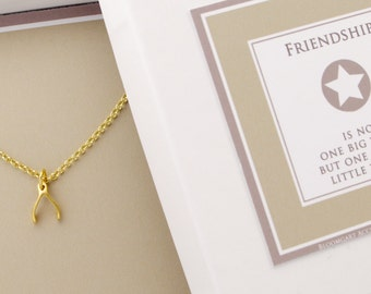 WISHBONE NECKLACE 925 sterling silver, gold plated
