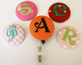 Monogramme bouton couvert rétractable Badge moulinets ID titulaires