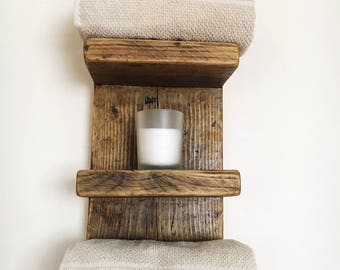 Wood Shelving - Reclaimed Wood Shelves - Bathroom Shelves - Storage - Kitchen Shelves - Display Shelves - Reclaimed Wood - Rustic Wood Shelf
