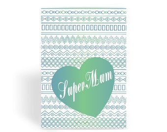 Funny Mother's Day Card, Funny Mum Card, Funny Birthday Card For Mum, Cheeky Card for Mum - Green Super Mum Greeting Card