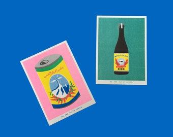 Combined shipping for 2 Riso prints of packaging from all over the world