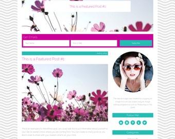 "Wordpress Theme, Responsive, Wordpress Blog Template, Genesis Child Theme, Clean, Seaside, Ocean, ""Seashell Cove"""