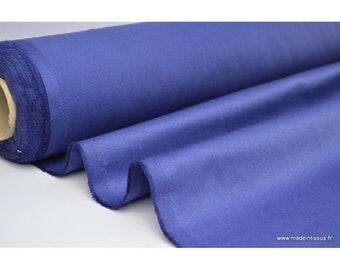 Tissu sergé coton mi-lourd bleu denim