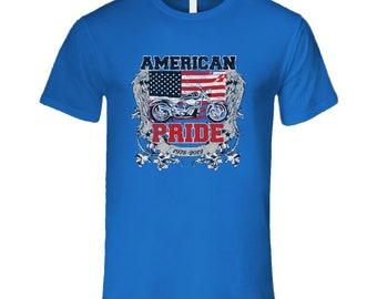 American Pride Motorcycle T Shirt