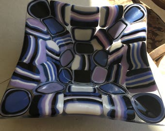 Pattern bar bowl-purple