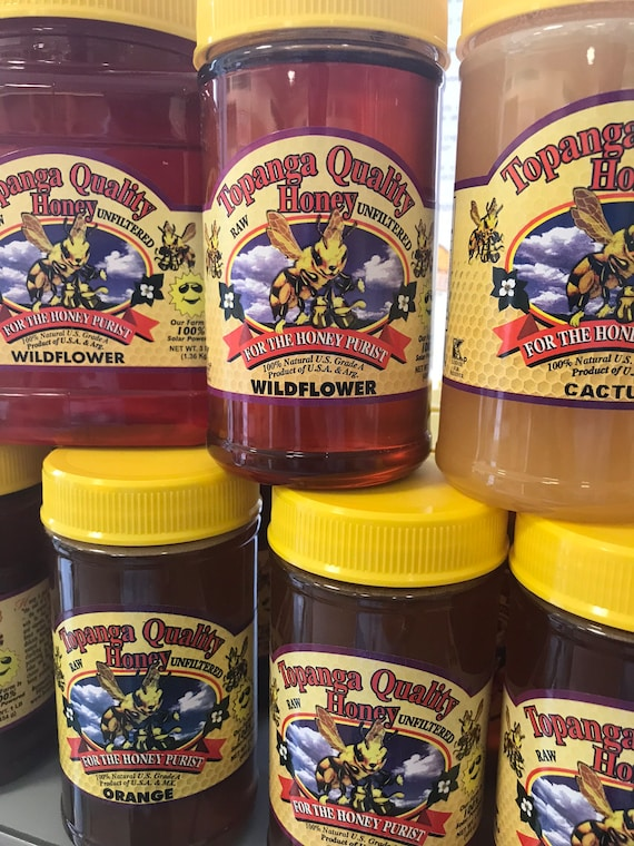 All Natural Organic Raw Southern California Honey - Never Filtered or Heated - Kosher Over 10 Varieties to Choose from