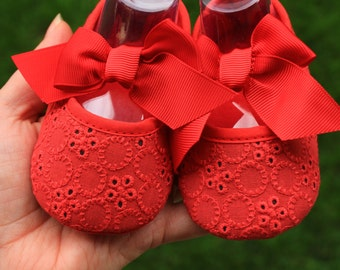 Ready to ship Baby Booties Girl First Shoes Red sole Newborn Birth Gift Newborn Baby Gift birth