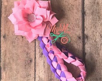Bun Wrap - Bun Holder - Bun - Wrap - Holder - Ballerina - Ballet - Dance - Woven - Pink - Purple - Flower - Ribbon - Everyday - Accessory
