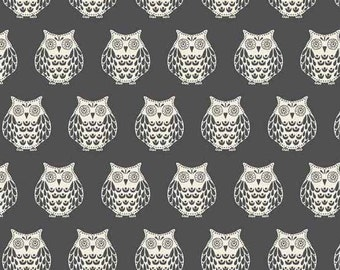 Papillon Gray Owls 1763S from Makower by the yard