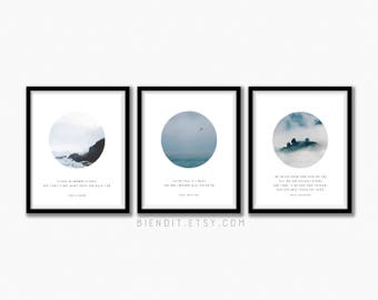 Choose Any Three Print Set, Choose Any Three Prints for the Price of Two, Literary Quotes, Poetry Prints, Posters, Minimalist Art