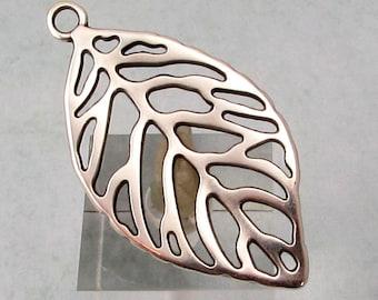 Leaf Pendant, Antique Silver, AS435
