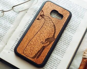 Real Wood Mahogany Samsung Galaxy A3/A5/A7 (2015/2016/2017) A8 A8+ case | Galaxy A3 A5 A7 wooden case