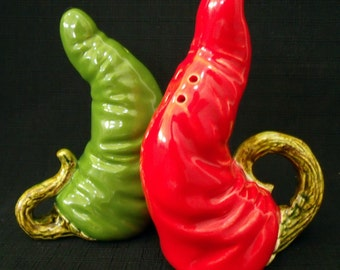 CUSTOM ORDER for CARLOS 10 sets of Green and Red Chili Peppers