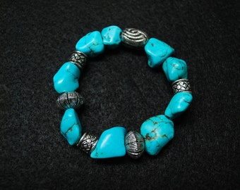 Turquoise Natural Nugget Bracelet.