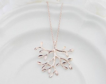 Rose Gold Necklace, Tree of Life Necklace, Family Tree Necklace, Rose Gold Tree Necklace, Mother of Bride Gift, Mother of Groom Gift