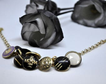 Vintage buttons bracelet - vintage jewellery - vintage buttons