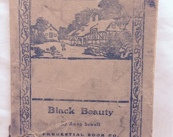 Black Beauty by Anna Sewell rare antique book early 1900's