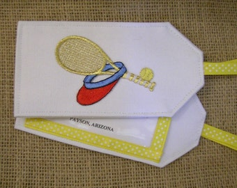 Luggage Tag, Tennis Luggage Tag, Luggage Tags, Tennis, Travel Tags