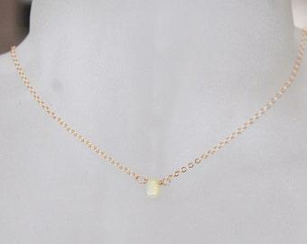 Opal Necklace , Choker Necklace , Gemstone Necklace , October Birthstone Necklace