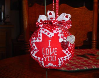I Love You Valentine Ornament