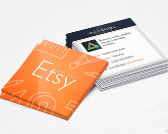Etsy Store Business Cards - eCommerce - Design and Printing - 16PT UV - 250, 500, 1000, 2500 | FREE Shipping |