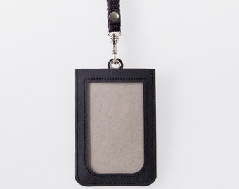 Washable Paper ID Badge Holder in Punaluu Black