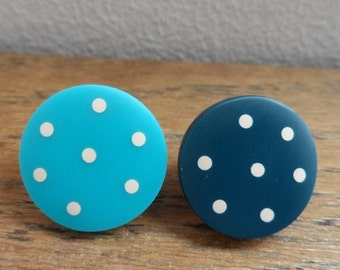Turquoise dotty 'don't match studs'