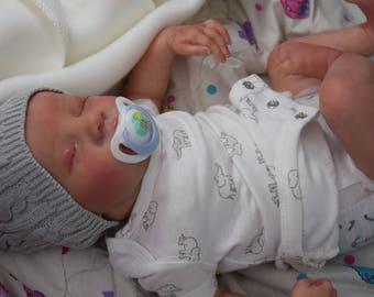 Reborn baby boy OOAK Baby Boy Reborn baby Reborn babies life like baby boy newborn- Reborn Levi- Reborn boy-Bonnie Brown limited edition
