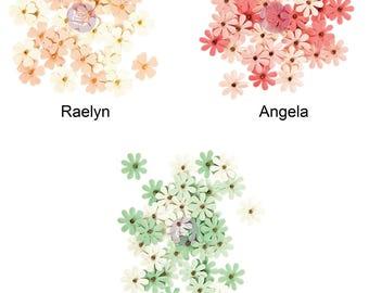 Prima Marketing Tiny Flowers - Raelyn, Angela, Shirley, 36/Pkg **Free Shipping**