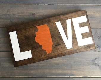 Pick State, State Wood Sign, State home sign, State love sign, State decor, Love Sign, State on Wood, guestbook, moving gift