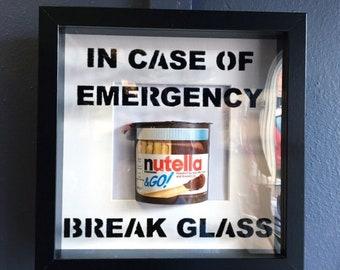 In case of emergency break glass - novelty Nutella frame
