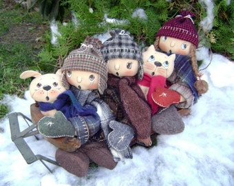 CF257 December's Snow Much Fun Sewing Cloth Doll Pattern E-Pattern