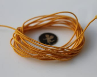5.20 meters apricot 2 mm orange elastic cord - elastic stretch - jewelry - bracelet - Pearl