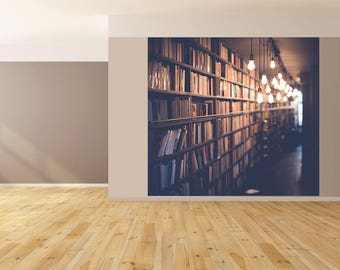 Wall Art Books Library Photo Wallpaper HUGE Peel and Stick