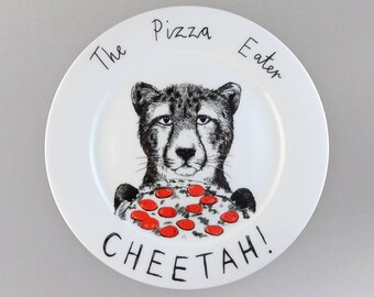 Pizza Eater Cheetah side plate