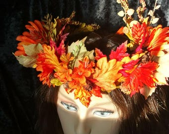 Autumn Leaf Crown