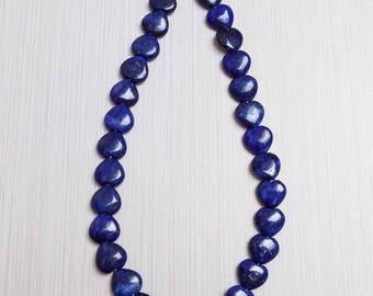 Lapis Heart beads