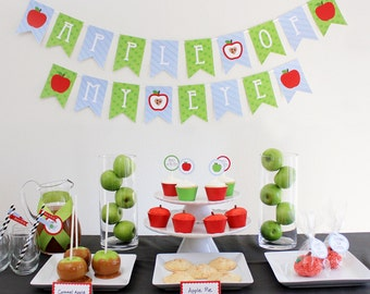 INSTANT DOWNLOAD - Apple of My Eye Party Package