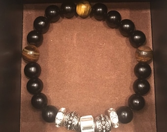 Black and Tan Bracelet