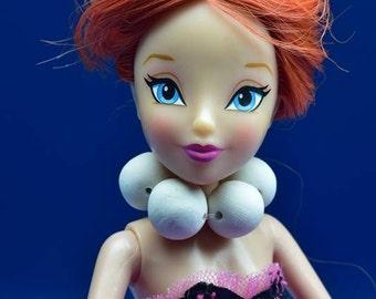 Wilma Flintstone Necklace for Fashion Dolls, Miniature Wilma Flintstone Necklace, Polymer Clay, Fashion Doll Jewelry, Barbie Necklaces
