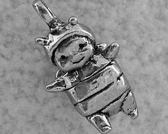 Green Girl Studios Baby Bee Boy Pewter Charm