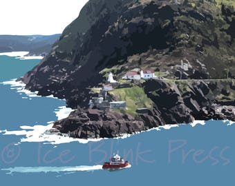 LIMITED EDITION Fort Amherst from Signal Hill, St. John's, Newfoundland, Canada