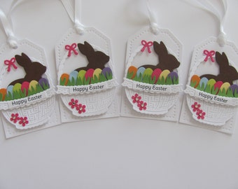Easter Bunny Basket Gift Tags, Happy Easter Favor Tags, Easter Tags, Easter Bunny Tags, Easter Basket Gift Tags, Happy Easter Gift Tags