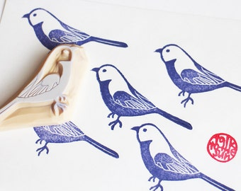 parakeet stamp | bird rubber stamp | woodland animal stamp | wedding birthday scrapbooking | diy art journal | hand carved by talktothesun