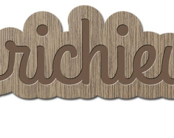 CAPRICHIEUSE - little words - laser cut wood - brooch