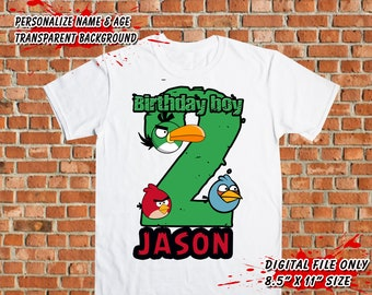 Angry Birds - Iron On Transfer DIY - Angry Birds DIY Shirt - Boy Birthday Shirt DIY - Angry Birds Printable - Ready To Print - Digital Files