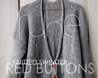 Knitting pattern for red button sweater